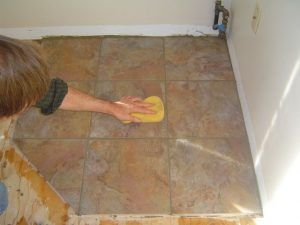 Applying Grout To Ceramic Tile Floor Http Www Homeadditionplus Com Dev Tiling Floors Walls Applying Grout To C Ceramic Floor Tiles Ceramic Tiles Tile Floor