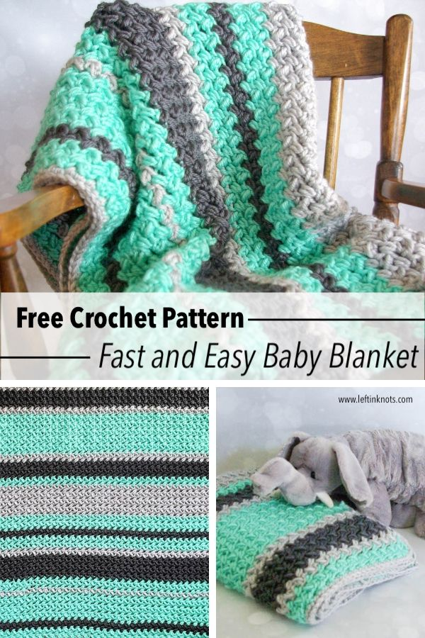 Crochet Baby Blanket - Fast and Free Pattern