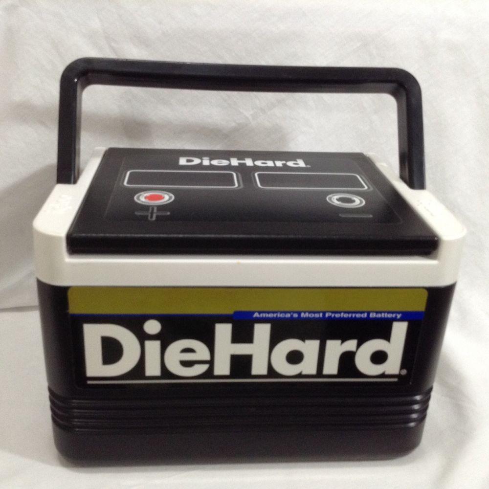 Igloo Diehard Car Battery Black Ice Chest 6 Pack Cooler Handle