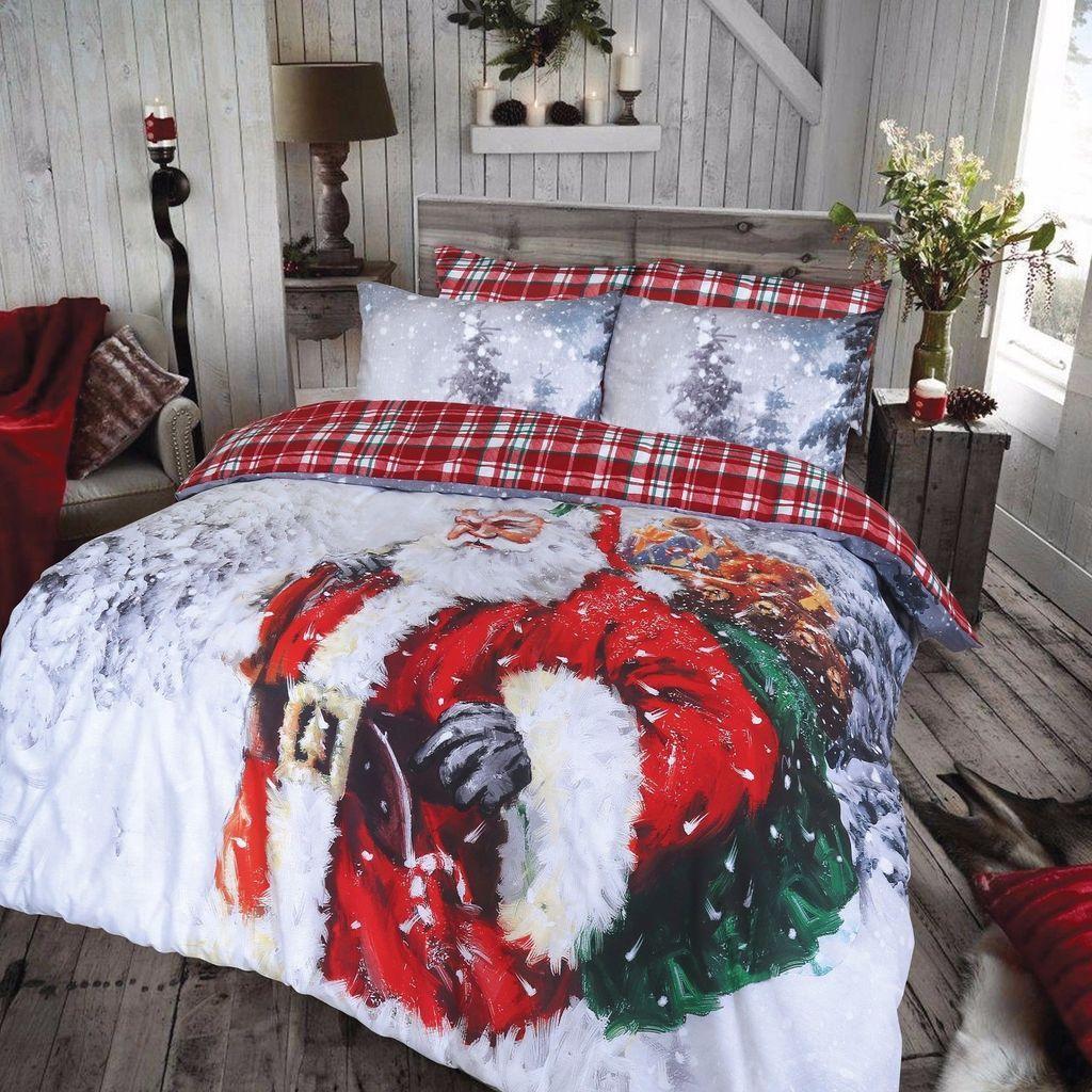 Vintage Christmas Duvet Set An Eye Catching Reversible Duvet Set