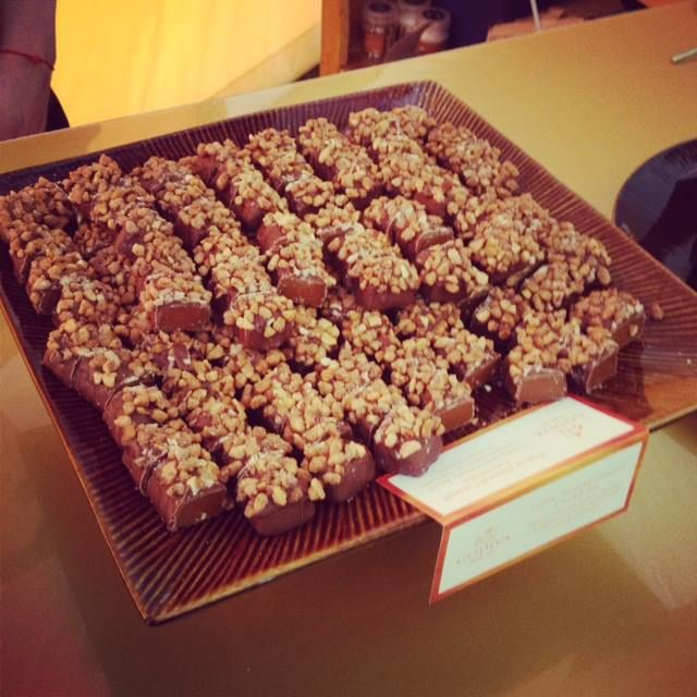 Guests enjoyed our Freshly Made Caramel Crunch Bars #GODIVA