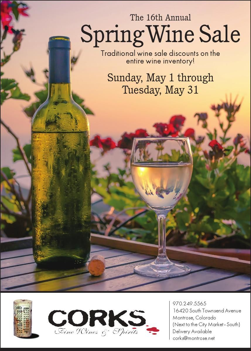The 16th Annual Spring Wine Sale Traditional wine sale