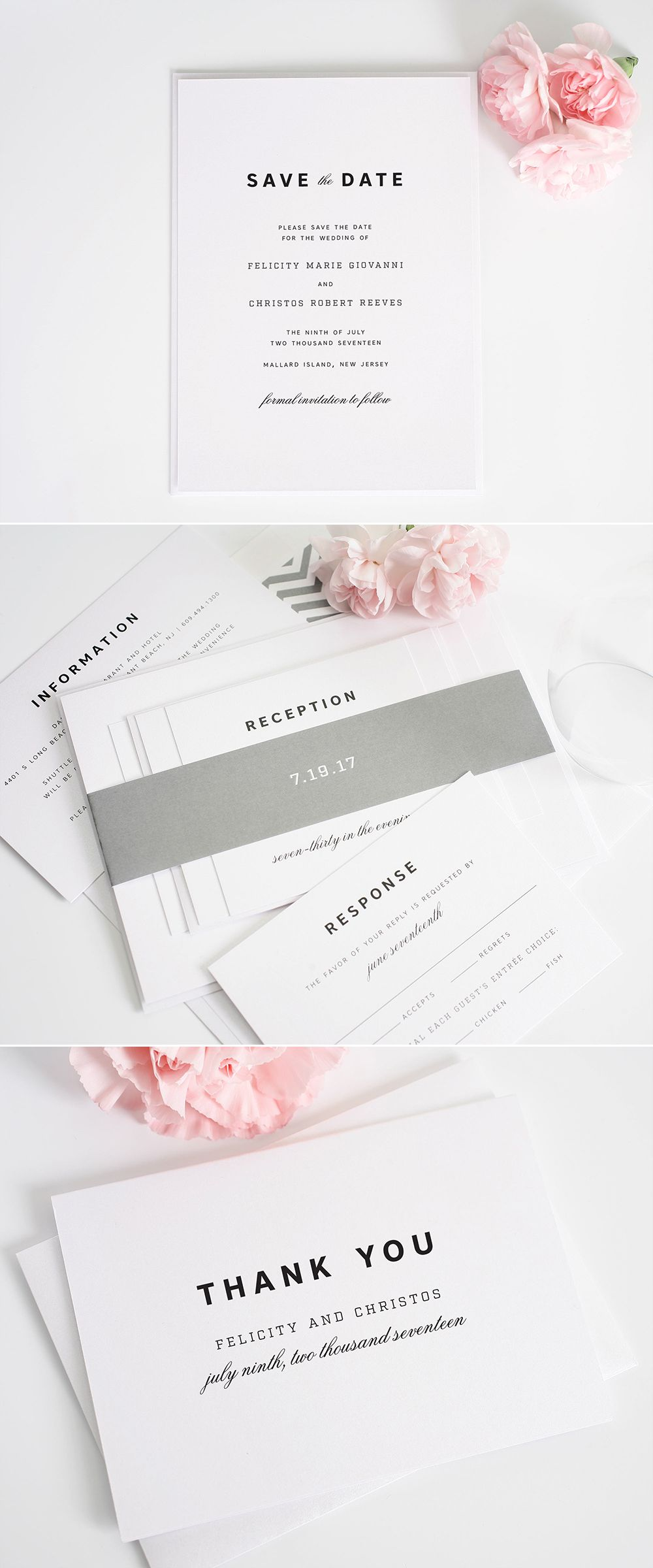 Urban Romance Wedding Invitations Shine Wedding Invitations