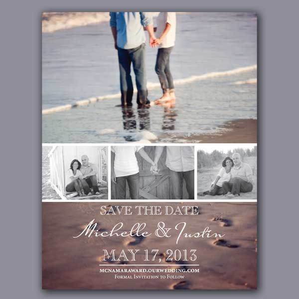 Photo Reel Save The Date- Photo Collage- Engagement Photos