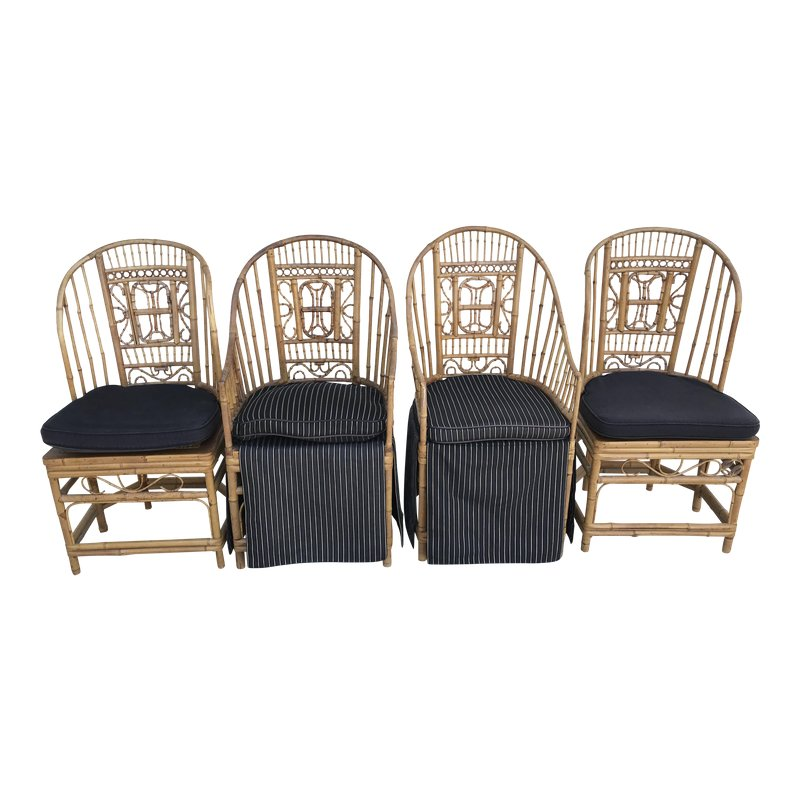 Pleasing Thomasville Brighton Pavillion Vintage Rattan Chair Set Of Gmtry Best Dining Table And Chair Ideas Images Gmtryco
