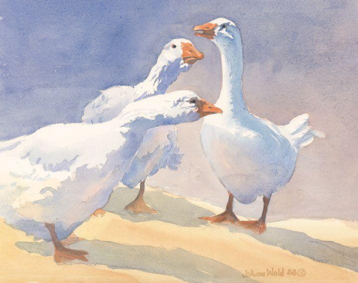 Water Color Geese Art