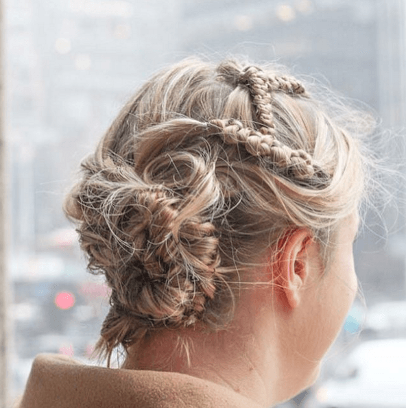 geometric braided hairstyle