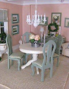Miniature Dollhouse Dining Room