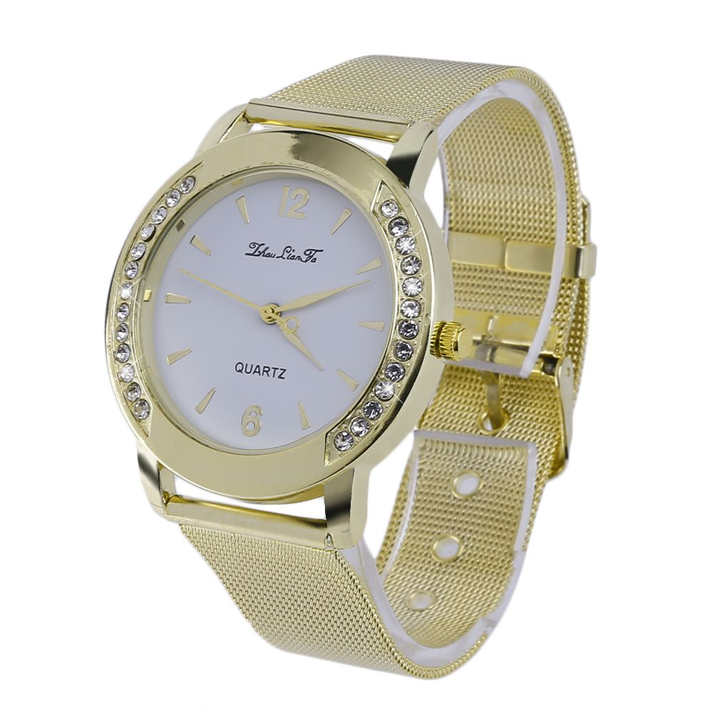 Click to buy ucuc women stainless steel mesh strap wrist watches