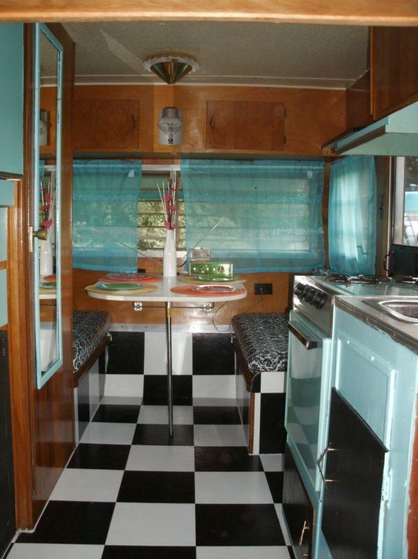 vintage trailer interior photos google search vintage trailer inspiration vintage travel. Black Bedroom Furniture Sets. Home Design Ideas