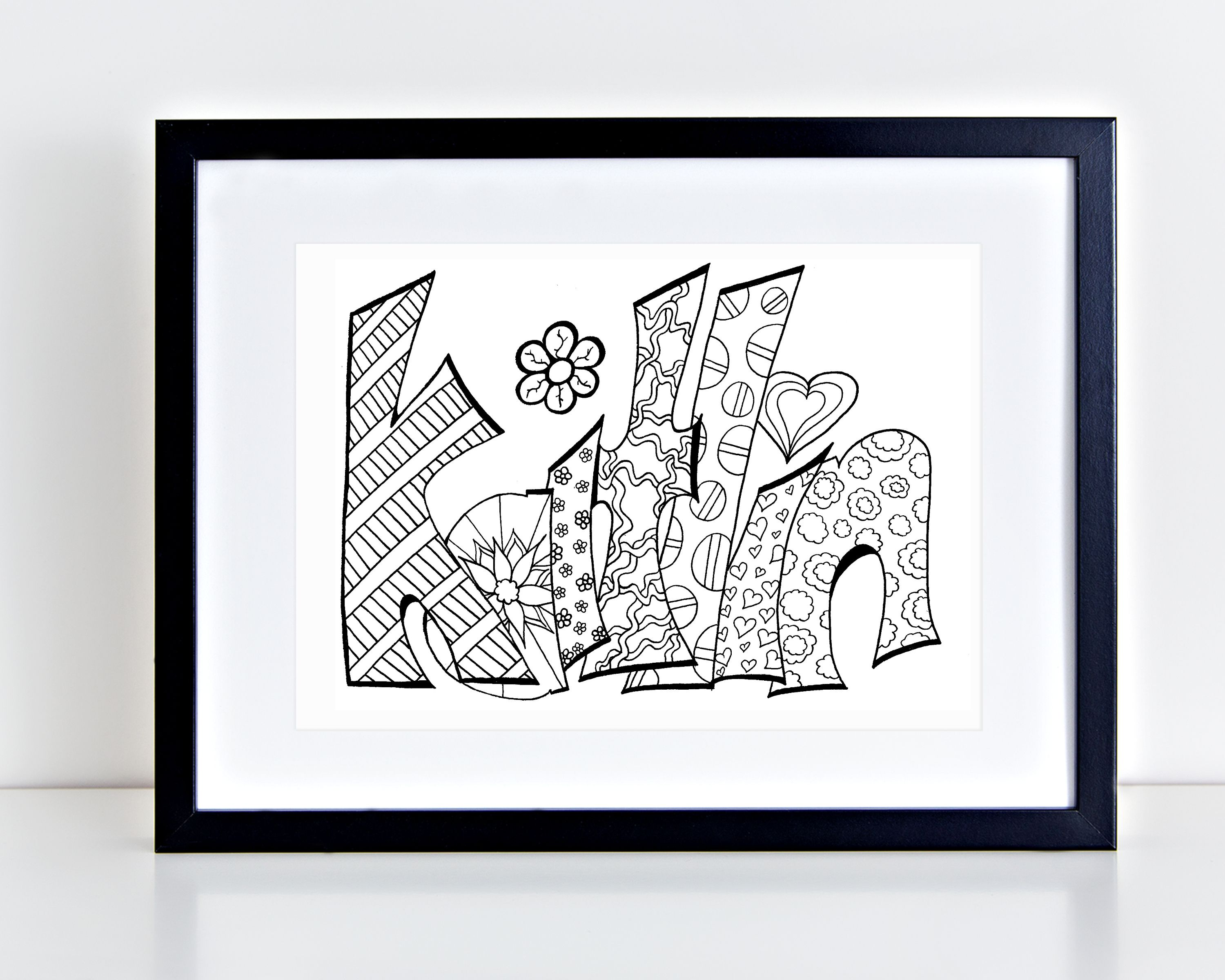 Custom Coloring Page - Purchase this item and include a note with ...