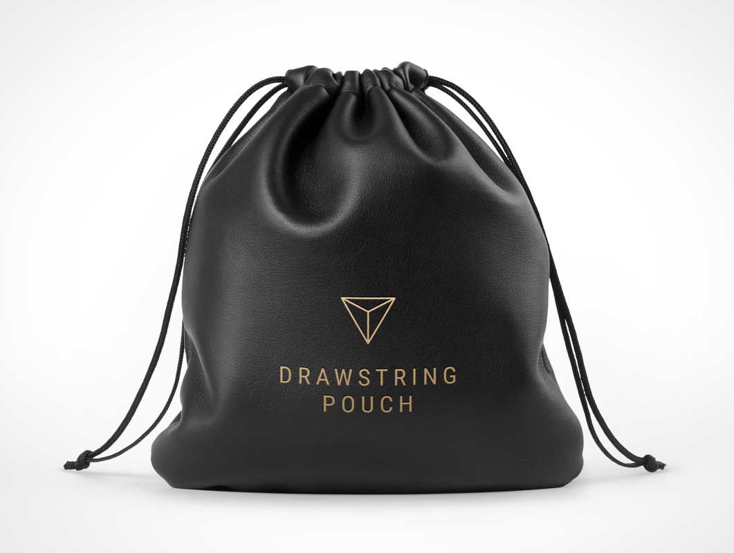 Download Leather Drawstring Pouch Bag Front Psd Mockup In 2021 Leather Drawstring Bags Drawstring Pouch Pouch Bag