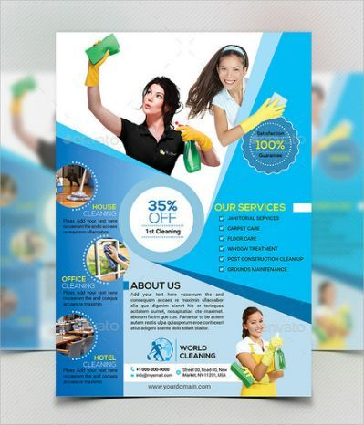 House Cleaning Flyers - 7+ Download cleaning services Pinterest