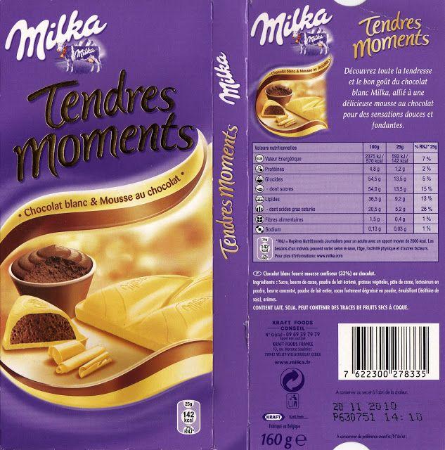 Assez tablette de chocolat blanc fourré milka tendres moments chocolat  CB38