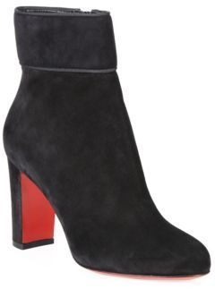 4531f71906a9 Christian Louboutin Moulamax 85 Suede Block Heel Booties Cl Shoes