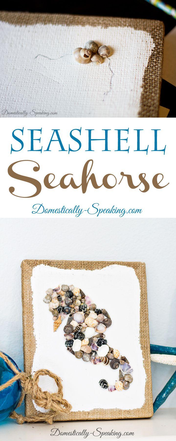Beach crafts DIY Seashell Seahorse Craft
