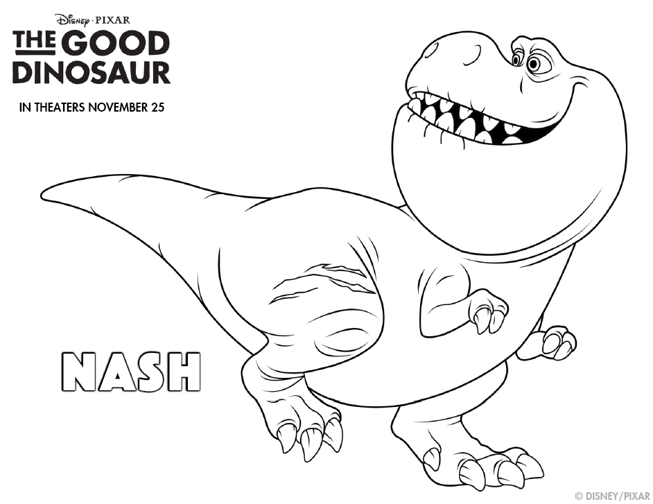 Free Printable Coloring Pages The Good Dinosaur Portraits