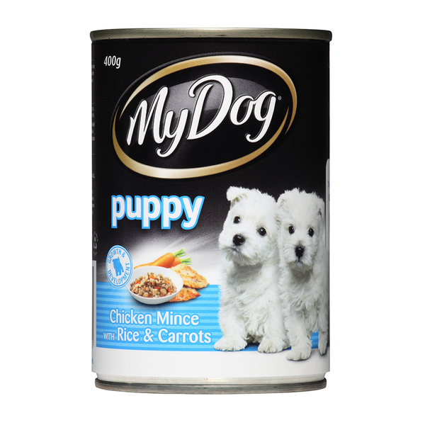 My Dog Puppy Chicken Mince With Rice Carrots 400g X 24 Cans My