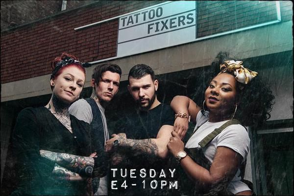 Jaygshore Catch Me On E4 S Brand New Tattoo Tv Series Tattoo Fixers Starting On The 23rd Of June At 10pm Guys Tattoo Fixers Brand New Tattoos Eastenders