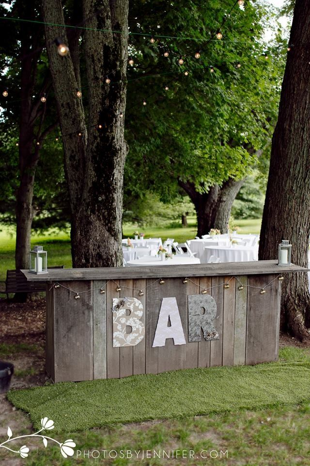 Outdoor bar between the ceremony and reception areas for Shooting photo exterieur conseil