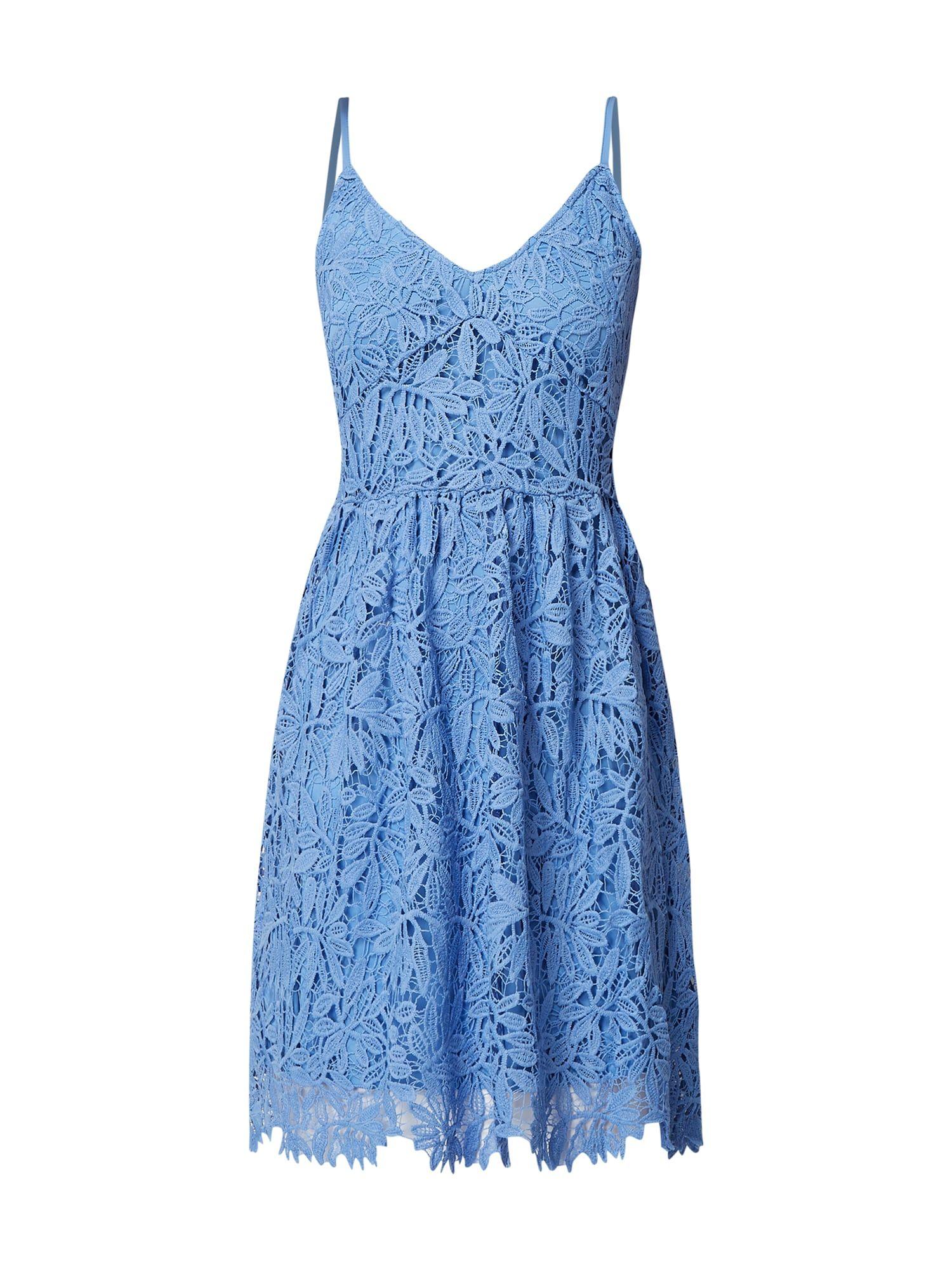 vero moda kleid aus häkelspitze in blau / türkis online