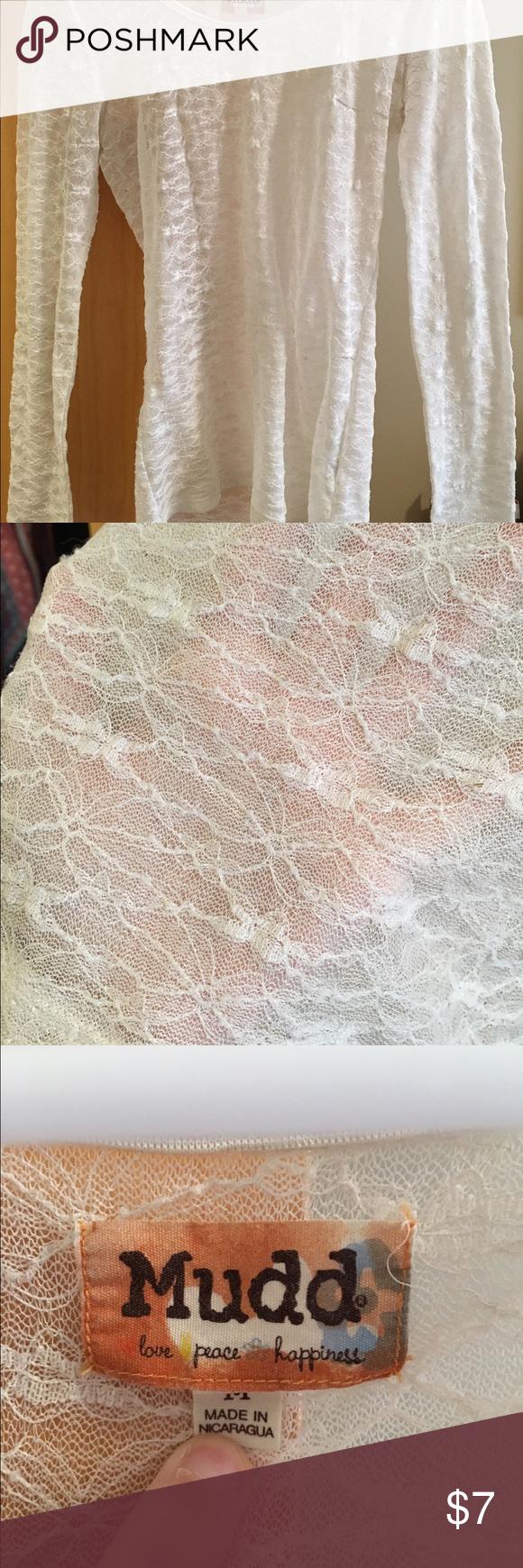 Lace shirt See thru lace long sleeve shirt Mudd Tops Tees - Long Sleeve