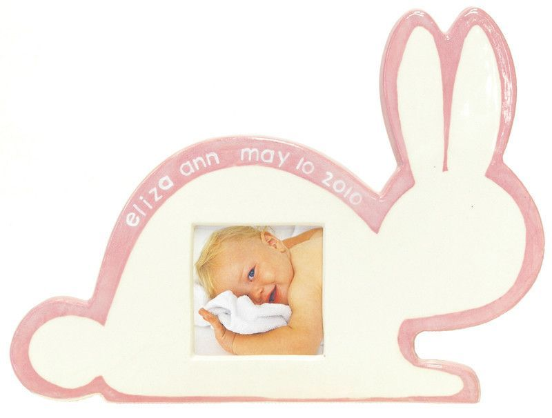Pink Bunny Silhouette Picture Frame