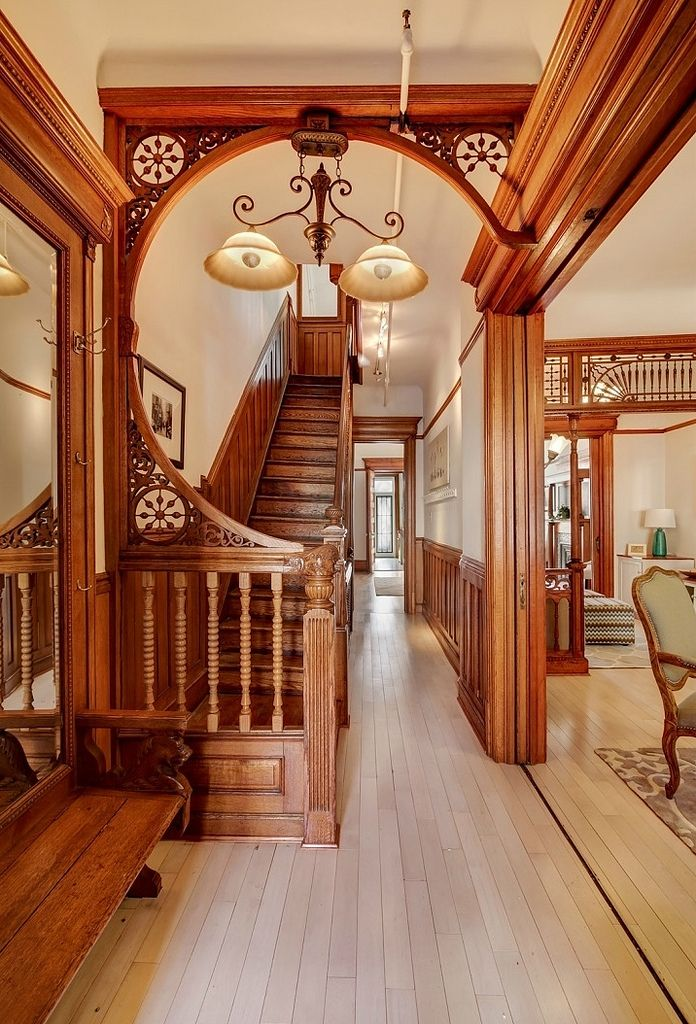 Victorian House Interior Designs In 2019: Brooklyn 2nd Street Victorian Foyer Woodwork In 2019