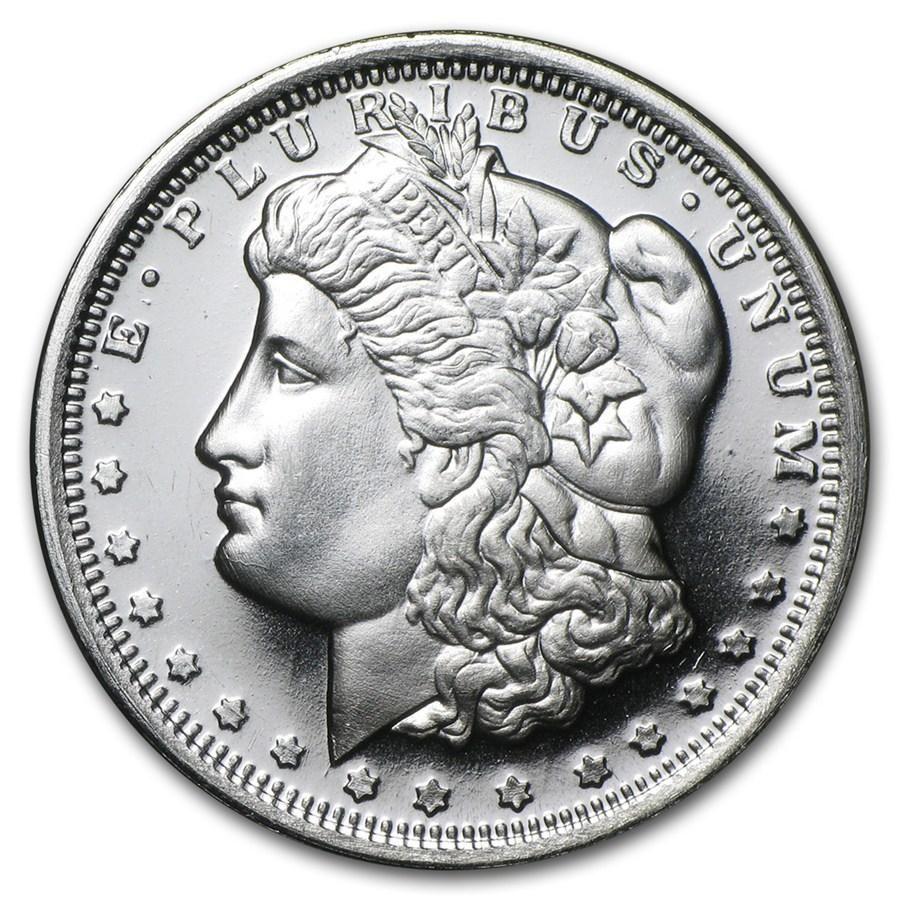 1 2 Oz 999 Fine Silver Round Golden State Morgan Silver Dollar Design Morgan Silver Dollar Silver Rounds Fine Silver