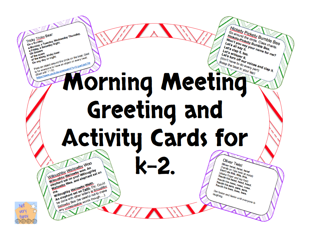 Morning Meeting Greeting And Activities Freebie Educational