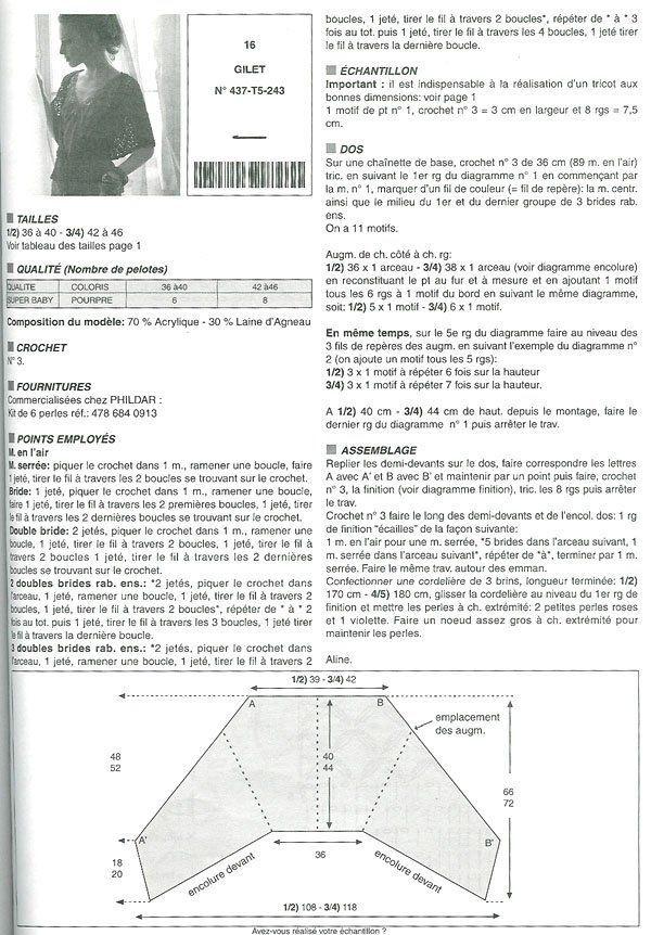 Patrones Crochet: Bolero Triangular Abotonado Patron | CROCHET ...