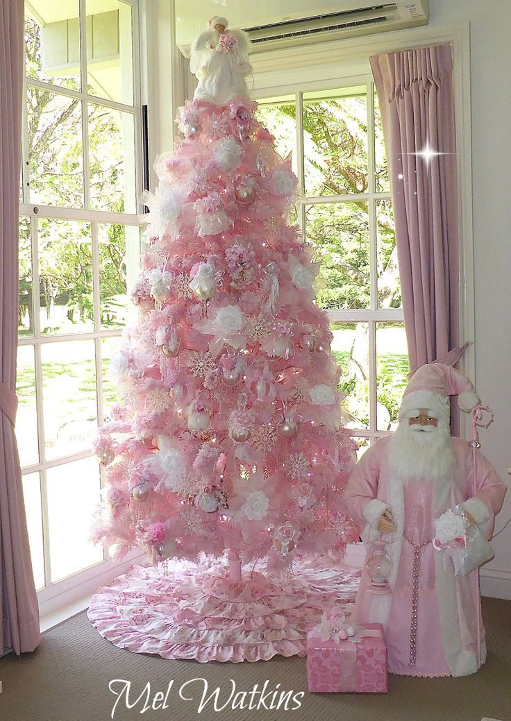i remember a flocked pink tree in grandma vees music room - Small Pink Christmas Tree
