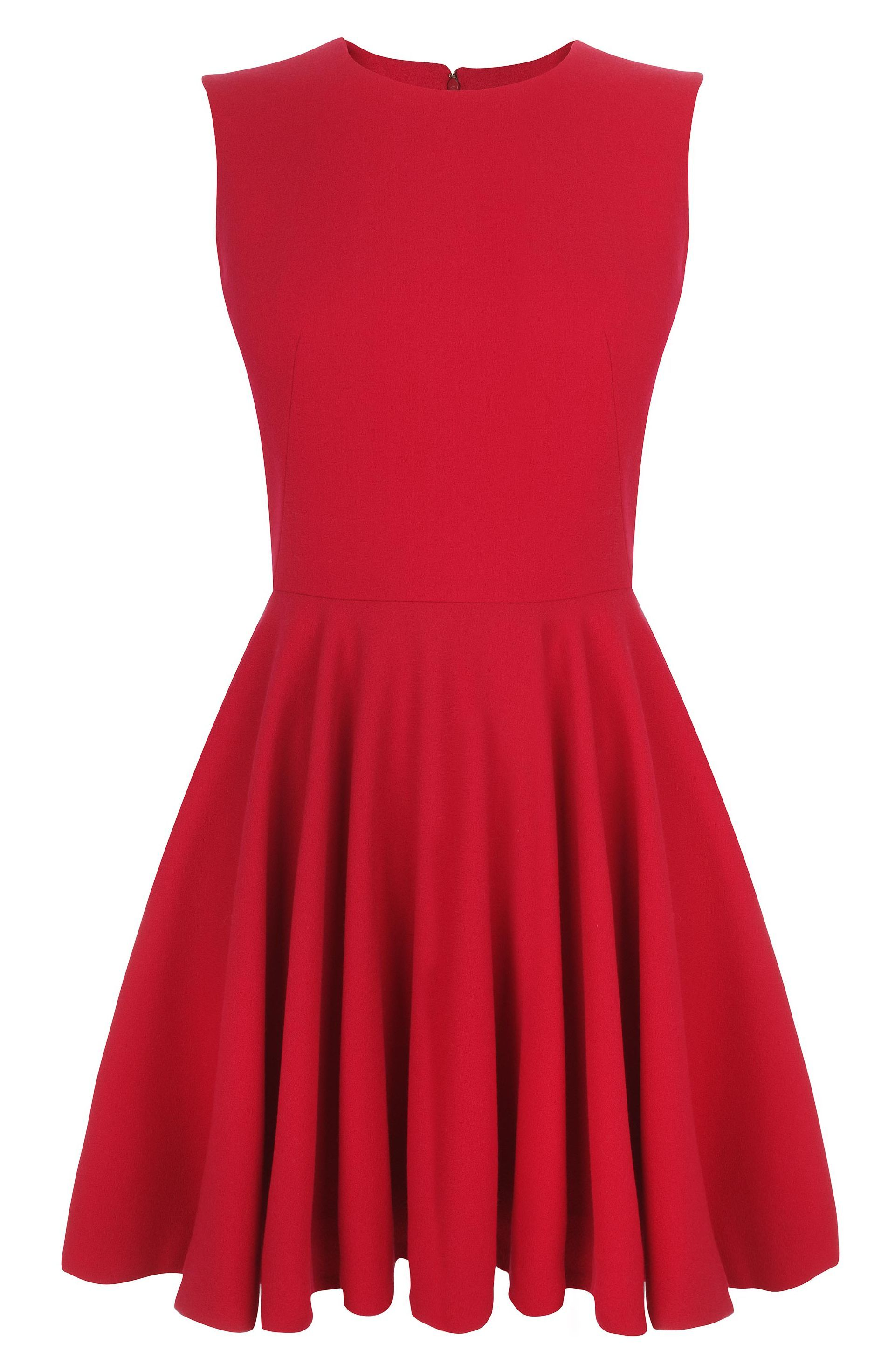 Alexander mcqueen cherry crepe wool circle minidress a few of my