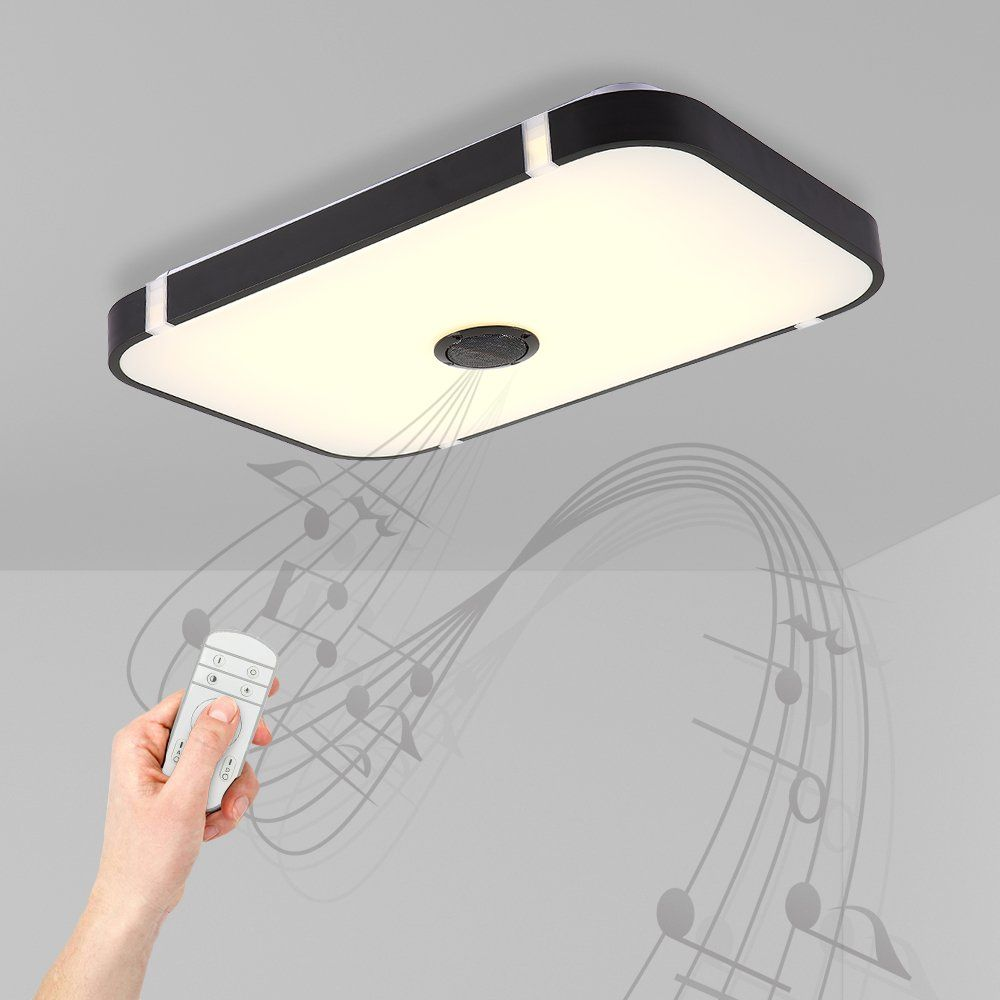 NATSEN 36W LED Ceiling Light with Remote Control And Bluetooth ...