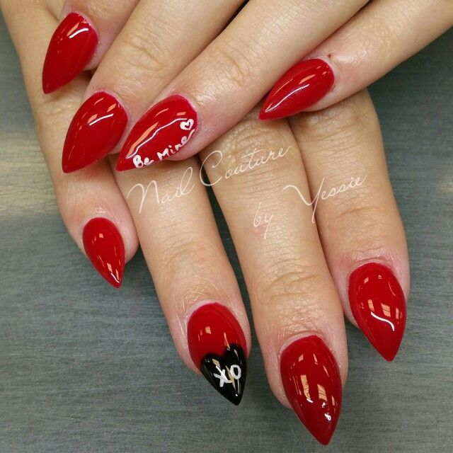Valentines Day Nails Stilettos Nails Pinterest Pedicures