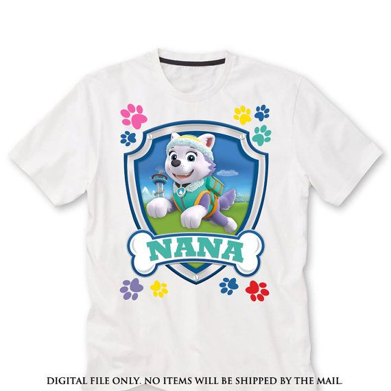 Nana Paw Patrol Birthday Shirt Iron On Transfer By Lauraspartyshop