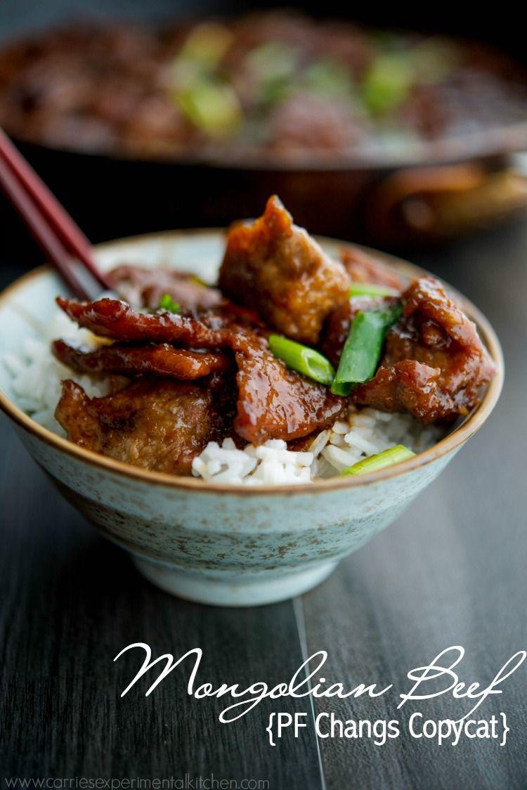 Mongolian Beef Pf Changs Copycat Recipe Food Recipes Asian