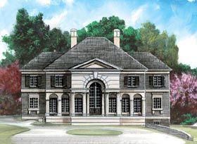 Colonial Greek Revival House Plan 98270 Elevation | Dom | Pinterest ...