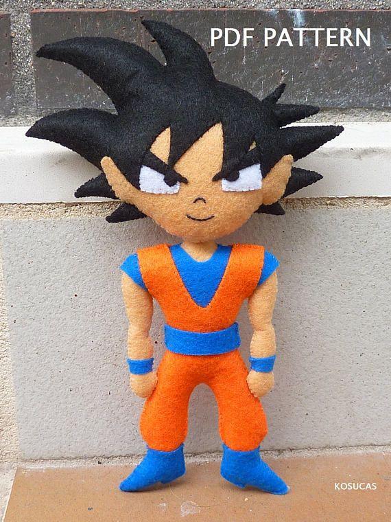 PDF pattern to make a felt Goku. | Crafts | Pinterest