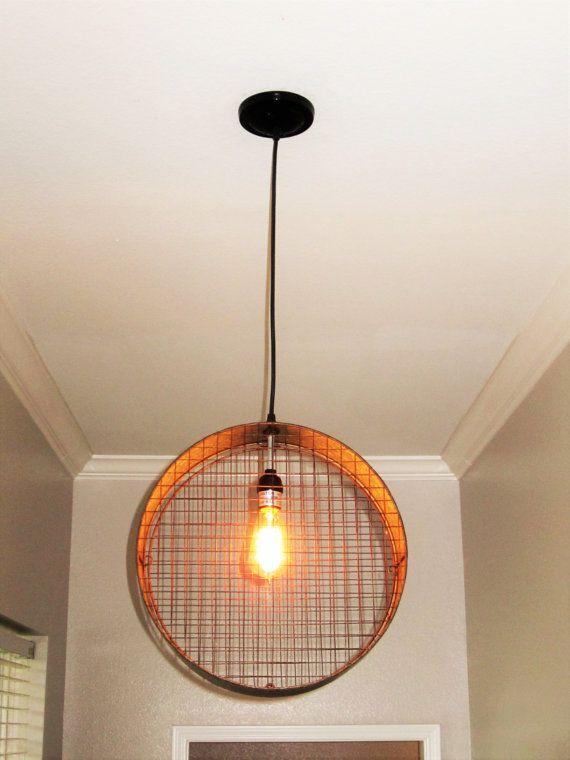 Wire Mesh Pendant Light- Lighting, Pendant Lighting, Rustic ...