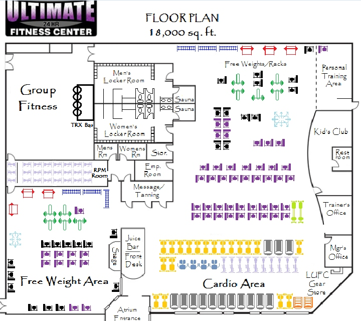 Fitness center floor plan google search gym for Gym floor plan