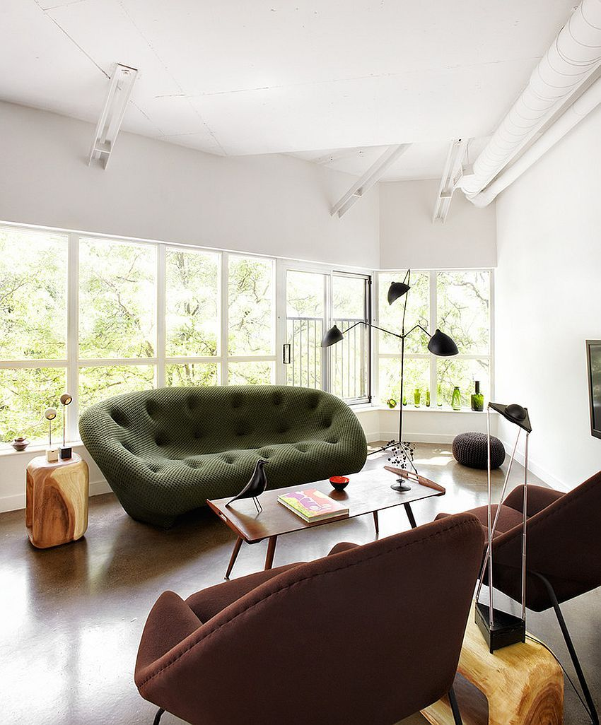 Gorgeous Ploum Sofa in green steals the