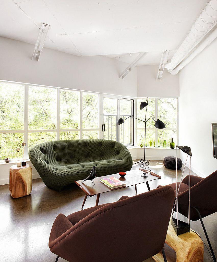 Gorgeous Ploum Sofa In Green Steals The Show Design Stephane