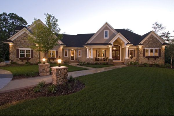 Plan No 280057 House Plans By Westhomeplanners Com Luxury House Plans Craftsman House Ranch Style Homes