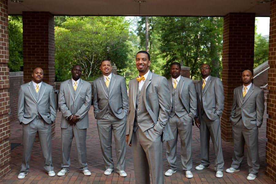 groom and groomsmen in bow ties