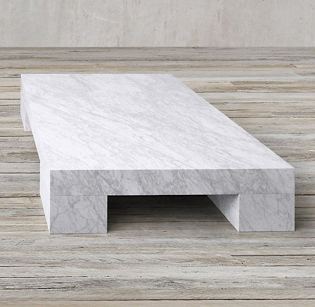 Rh 39 S Marble Slab Rectangular Coffee Table Our Table Pays Tribute To The Minimalist Lines And Iconic F Coffee Table Marble Coffee Table Marble Tables Design