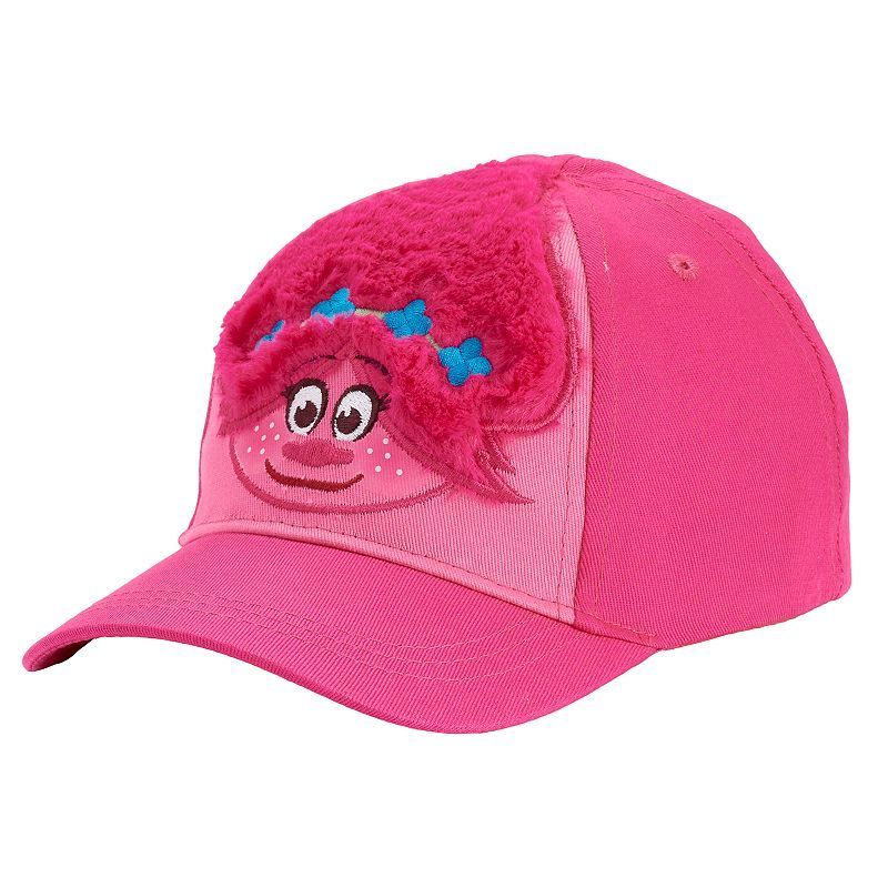 77303c4ba Toddler Girl Dreamworks Trolls Fuzzy Poppy Baseball Cap, Size: 2T-4T, Dark  Red