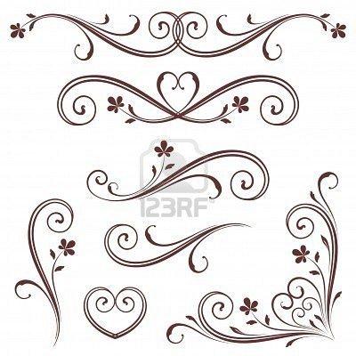heart scroll design - Google Search