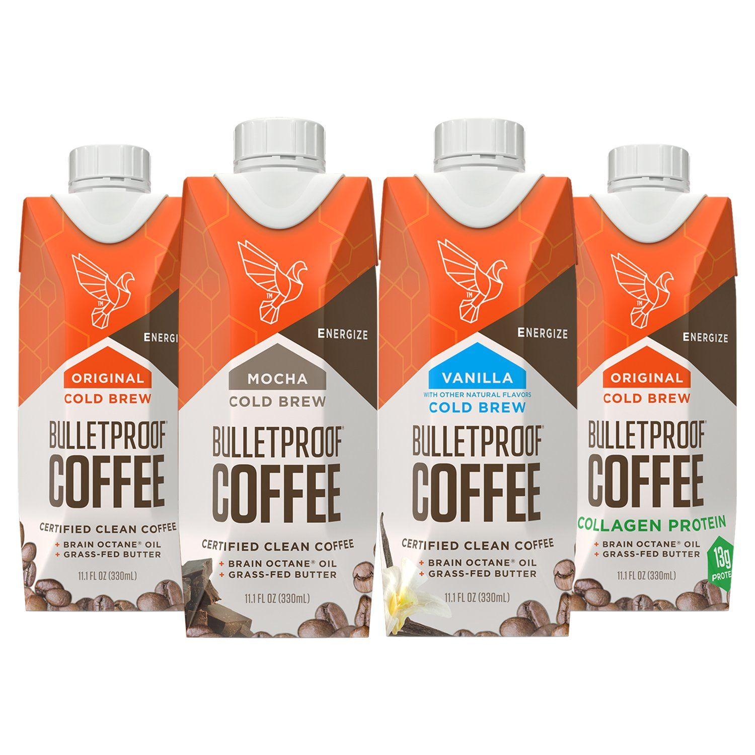 Bulletproof coffee cold brew ready to drink sampler