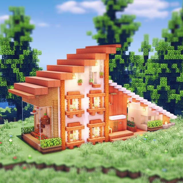 An aesthetic house made of acacia woods